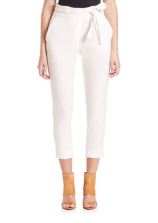 IRO Cropped Linen-Blend Pants