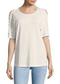 IRO Cutout Short-Sleeve Tee