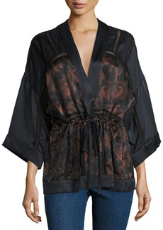 IRO Dafoe Silk Kimono Top