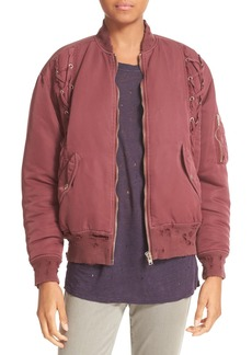IRO Distressed Lace-Up Bomber