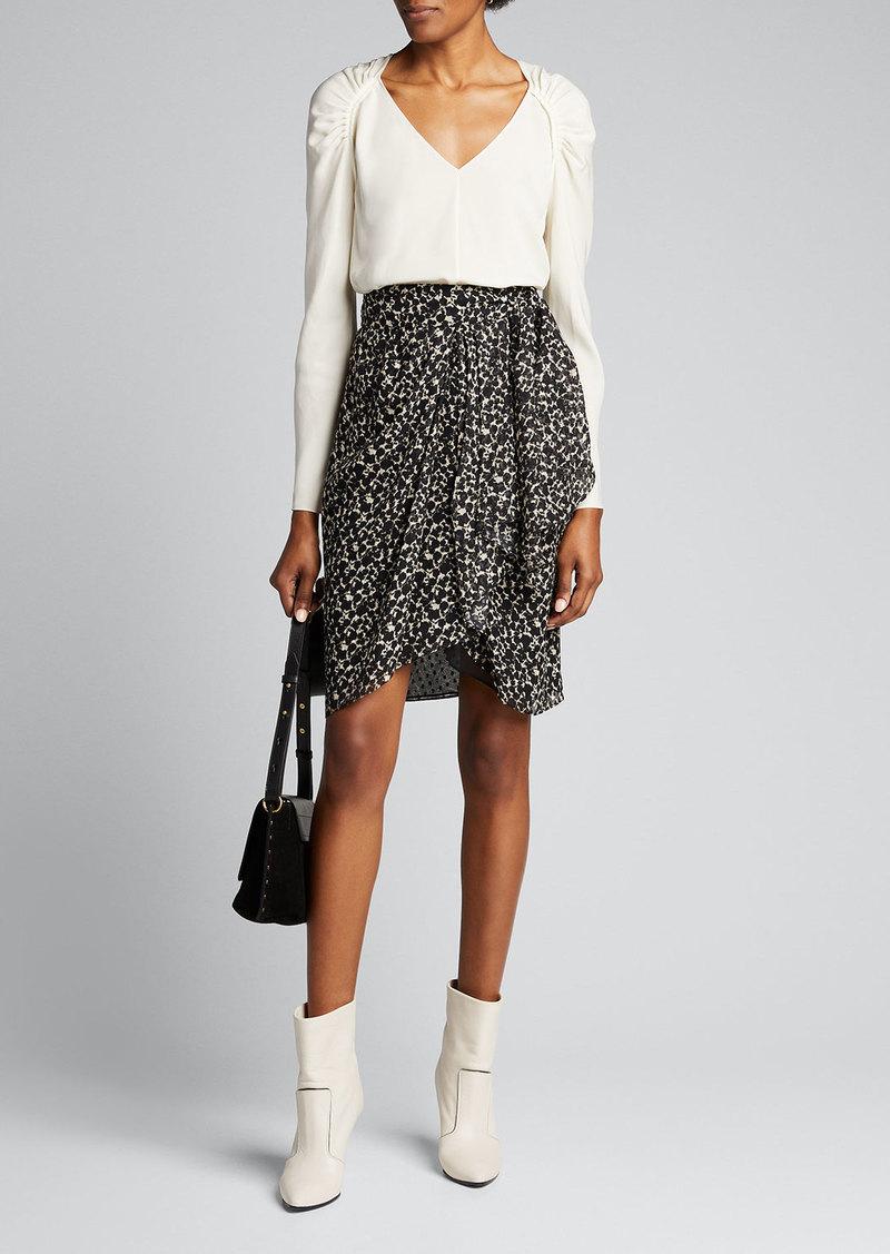 Iro Fallon Printed Wrap Skirt