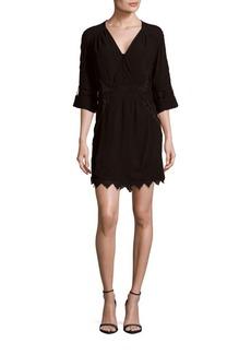 IRO Fedra Embroidered Sheer-Back Dress