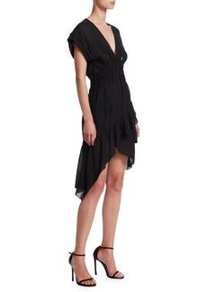 IRO Foroura V-Neck Mini Dress