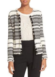 IRO Frayed Edge Knit Jacket
