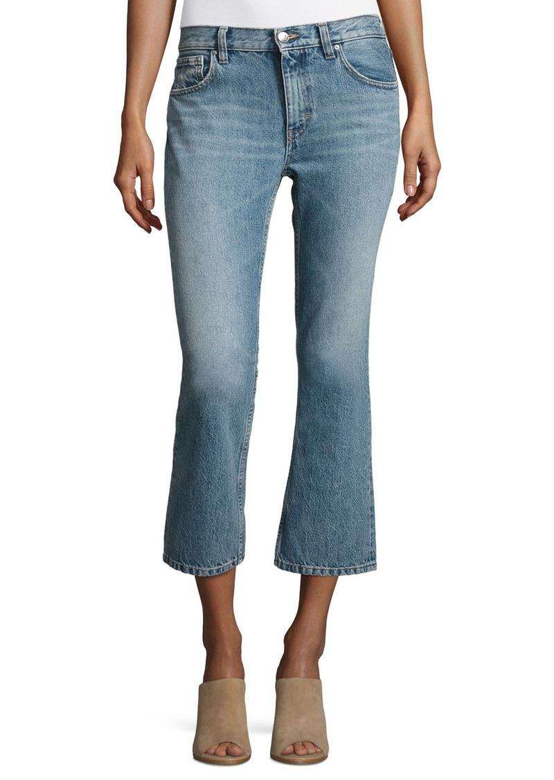 iro iro freya cropped flare jeans denim shop it to me. Black Bedroom Furniture Sets. Home Design Ideas