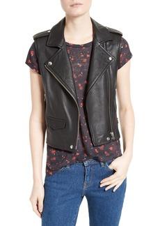 IRO Harri Leather Moto Vest