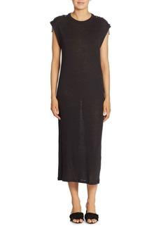 IRO Iboga Lace-Up Linen Maxi Dress