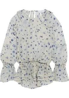 IRO July ruffled floral-print georgette blouse