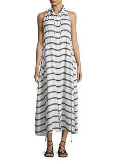 Iro Karell Striped Voile Midi Dress