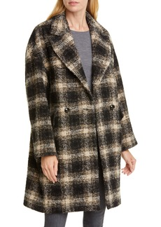IRO Karsh Plaid Double Breasted Coat