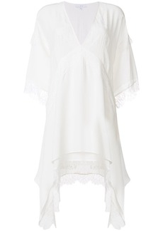 Iro lace trim kaftan dress - White