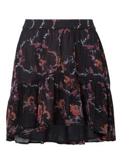 IRO Lilie Printed Georgette Mini Skirt