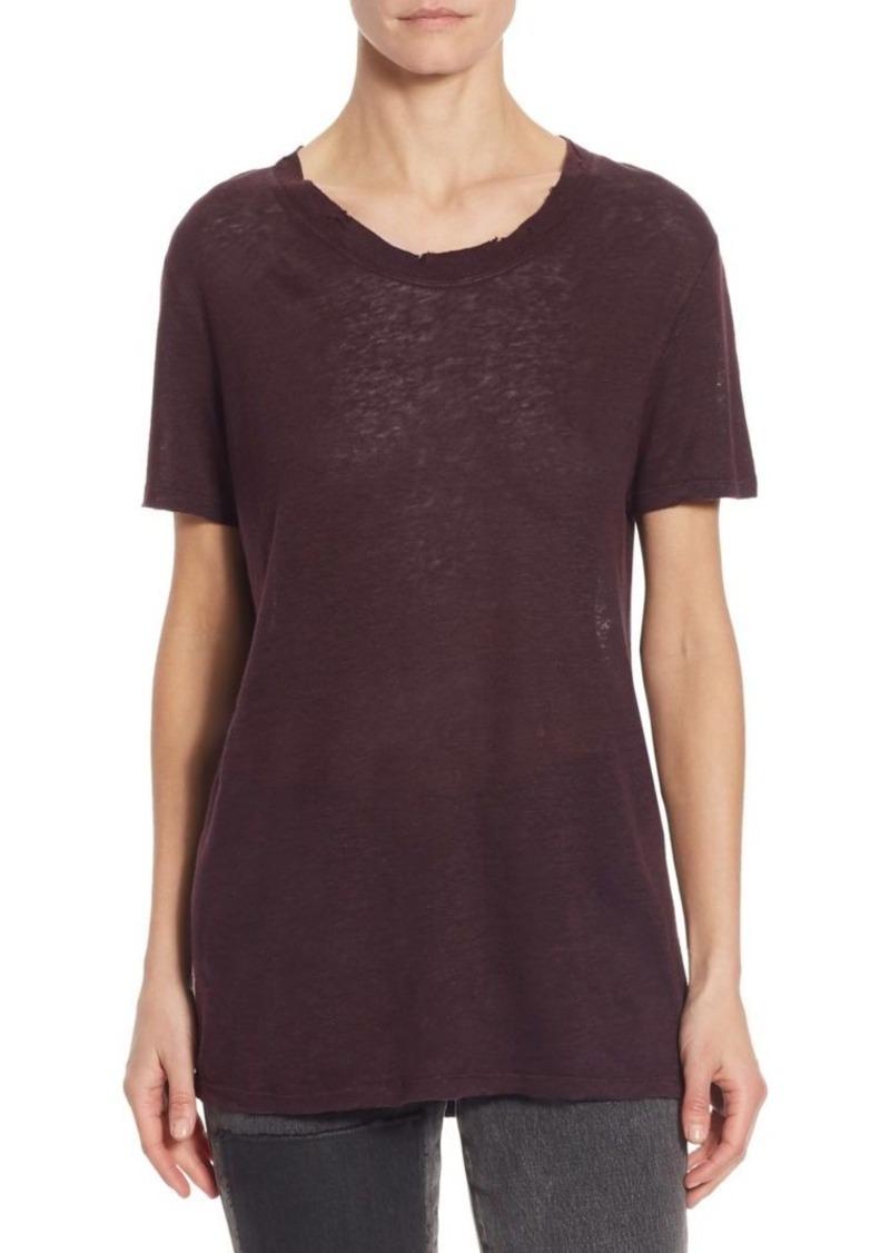 Iro Lymann Linen Knit Tee Casual Shirts