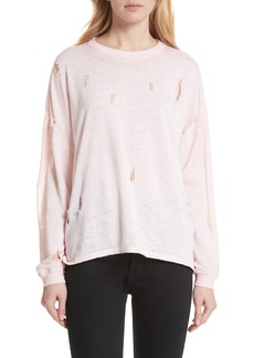 IRO Lyzza Distressed Sweatshirt