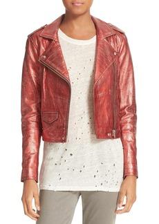 IRO Metallic Leather Jacket