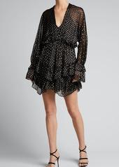 Iro Milson Polka Dot Ruffle Mini Dress