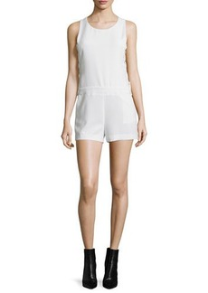Iro Moltani Crepe Lace-Up Romper