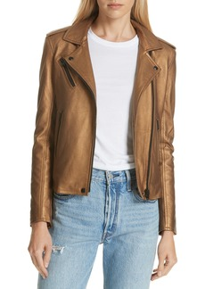 IRO New Han Metallic Leather Jacket