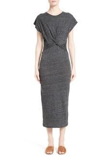 IRO Pacson Knotted Midi Dress