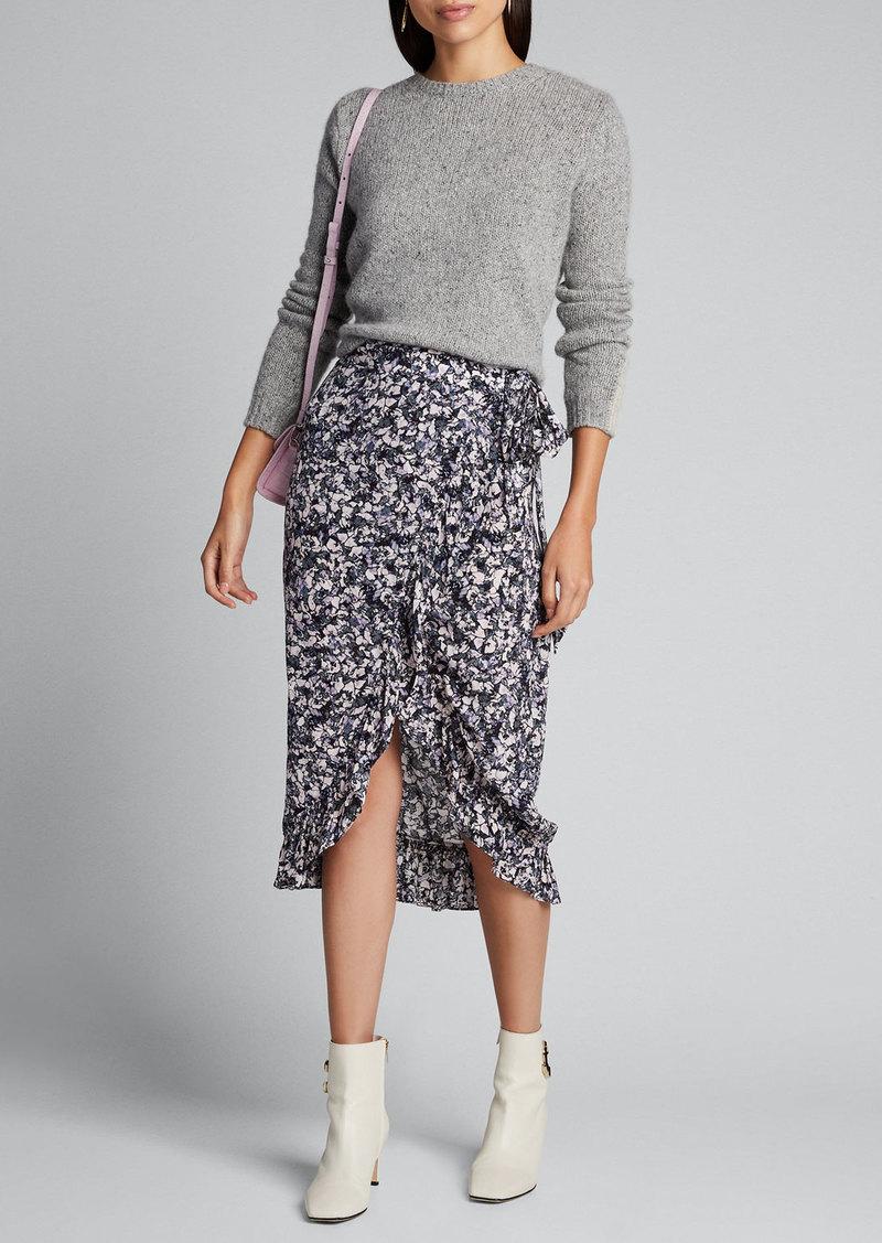 Iro Palmer Printed Wrap Midi Skirt