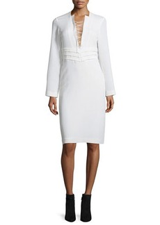 Iro Payda Lace-Front Sheath Dress