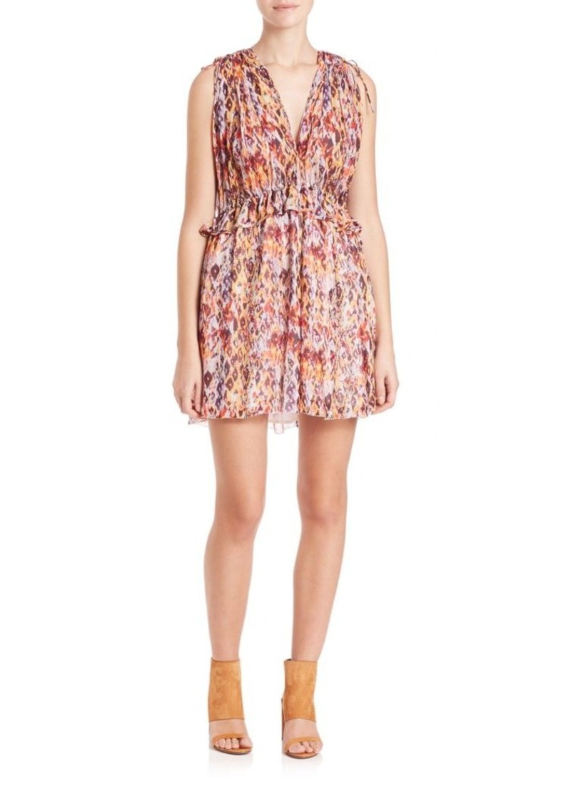 IRO Plum Printed Sleeveless Dress