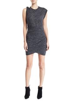 Iro Plush Gathered Crewneck Short Dress