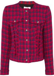IRO Quilombe metallic frayed tweed jacket