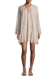 Iro Ralene Printed Chiffon Shift Dress