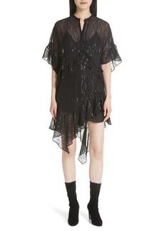 IRO Revolve Metallic Fil Coupé Silk Blend Dress