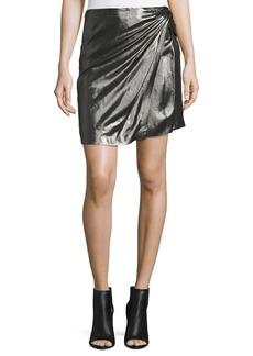 Iro Shanina Draped Lamé Skirt