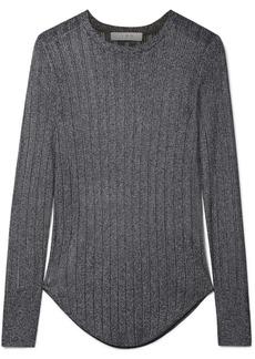 IRO Skogik Metallic Pointelle-knit Top