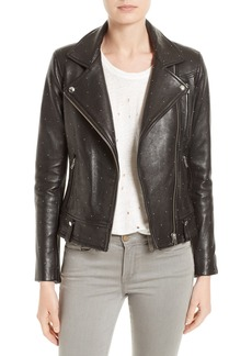 IRO Vamy Studded Leather Moto Jacket