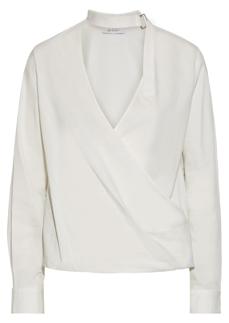 Iro Woman + Anja Rubik Mareyna Cotton And Silk-blend Blouse White