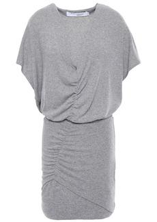 Iro Woman Ruched Mélange Jersey Mini Dress Light Gray