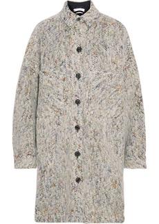 Iro Woman Abdona Oversized Donegal Brushed Bouclé Jacket Light Gray
