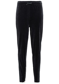 Iro Woman Adila Cotton-blend Velvet Track Pants Dark Gray