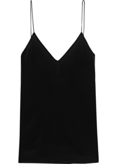 Iro Woman Afford Lace-trimmed Crepe De Chine Camisole Black