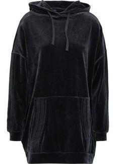 Iro Woman Alevi Oversized Cotton-blend Velvet Hoodie Charcoal