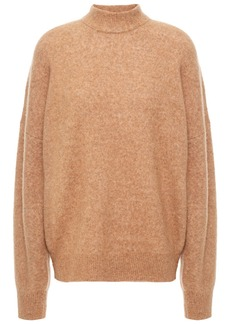 Iro Woman Almy Mélange Brushed-knitted Sweater Sand