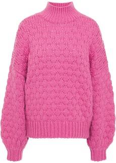 Iro Woman Alya Pointelle-knit Sweater Fuchsia