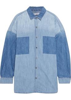 Iro Woman Alysa Two-tone Denim Shirt Light Denim