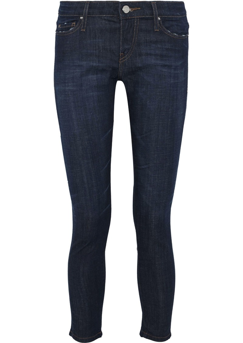 Iro Woman Alysond Cropped Low-rise Skinny Jeans Dark Denim