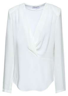 Iro Woman Armene Wrap-effect Crepe De Chine Top White