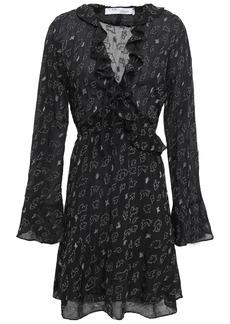 Iro Woman Avenge Ruffle-trimmed Metallic Fil Coupé Georgette Mini Dress Black