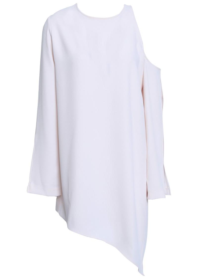 Iro Woman Awati Asymmetric Cutout Crepe Mini Dress Baby Pink