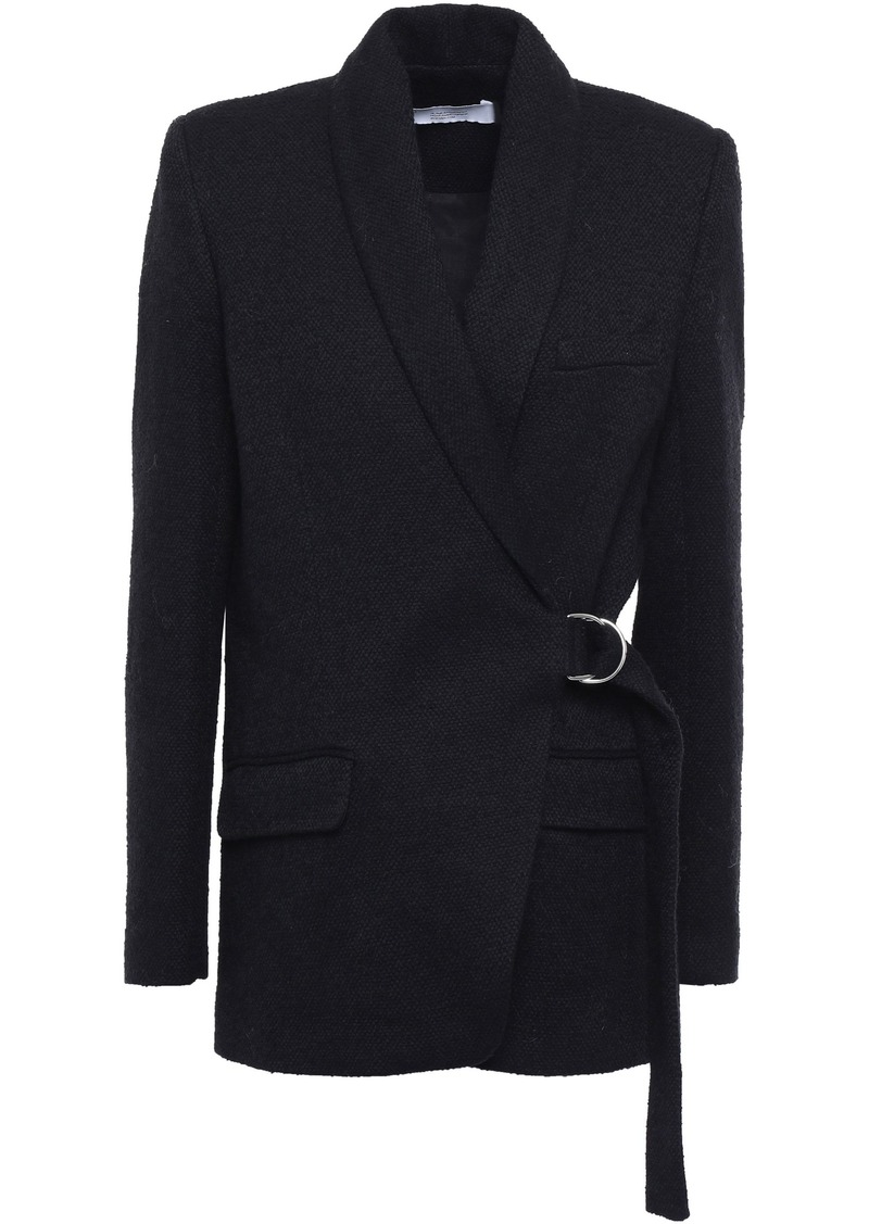 Iro Woman Azzow Buckled Cotton-blend Bouclé-tweed Blazer Black