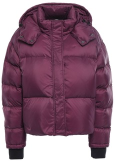 Iro Woman Back Quilted Shell Hooded Down Jacket Plum