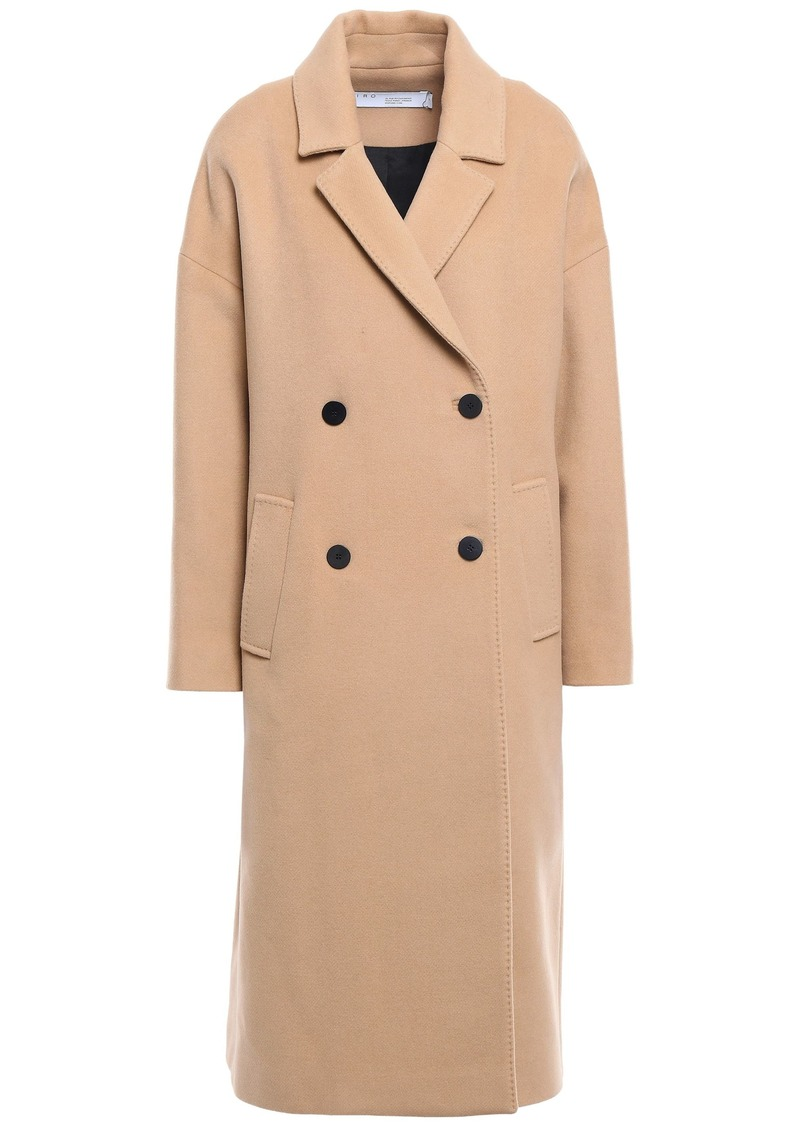 Iro Woman Bandy Oversized Double-breasted Wool-blend Felt Coat Sand