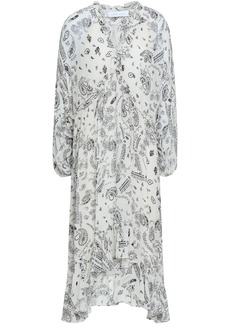 Iro Woman Baphir Ruffle-trimmed Printed Georgette Midi Dress Off-white